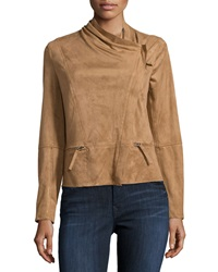 Max Studio Faux Suede Moto Jacket Vicuna