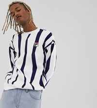 Fila Tribe Sweat With Badge In White Exclusive At Asos