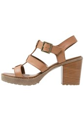 Pier One Platform Sandals Cognac