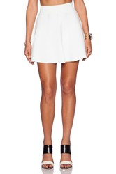 Central Park West Skater Skirt White