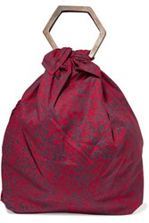 Kayu Net Sustain Kamber Printed Cotton Voile Tote Red
