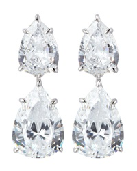 Fantasia Double Pear Cut Drop Earrings