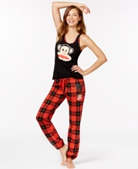 Paul Frank Tank And Pajama Pants Black Red