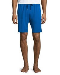 Derek Rose Basel Jersey Lounge Shorts Cobalt Men's