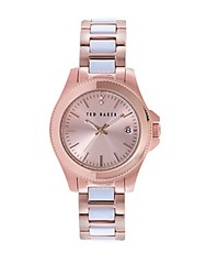 Ted Baker Ladies Classic Charm Two Tone Watch Rose Gold
