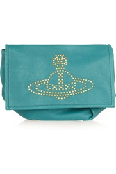 Vivienne Westwood Studded Textured Leather Clutch