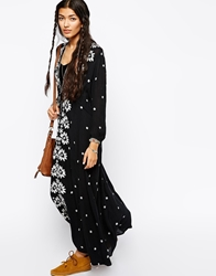 Free People Maxi Dress With Embroidery Black