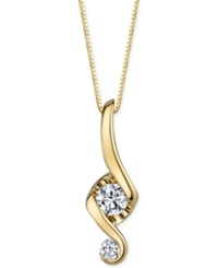 Proud Mom Diamond Swirl Pendant Necklace 1 10 Ct. T.W. In 14K Gold