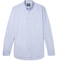 Gitman Brothers Vintage Button Down Collar Cotton Oxford Shirt Blue