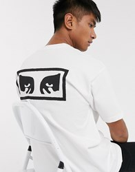 Obey Eyes 3 Heavyweight T Shirt In White