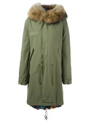Mr And Mrs Italy Fox Raccoon Fur Lined Parka Green