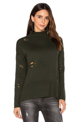 Autumn Cashmere Distressed Sweater Green