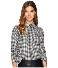 Roxy Concrete Streets Check Woven Traditional Top True Black Tea For Two Gingham Clothing