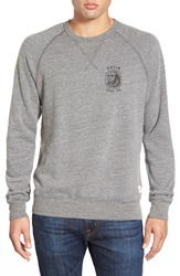 Katin 'Skullnami' Graphic Fleece Sweater Hthr Grey