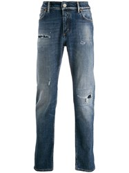 Closed Faded Mid Rise Jeans Blue