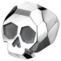Delphine Leymarie Facets Skull Cocktail Ring Silver