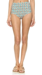 Marc By Marc Jacobs Mini Jerrie Rose High Waisted Bikini Bottoms Pale Jade Multi