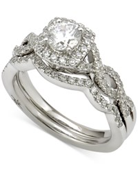 Marchesa Certified Diamond Bridal Set 1 Ct. T.W. In 18K White Gold