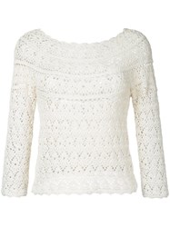 Aspesi Crochet Jumper Women Cotton 38 White