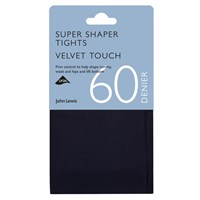 John Lewis 60 Denier Super Bodyshaper Velvet Touch Opaque Tights Navy