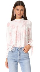 English Factory Top With Tie Detail Sleeves Antique Rose