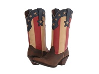Durango Crush 12 Stars And Stripes Dark Brown Union Flag Cowboy Boots Multi