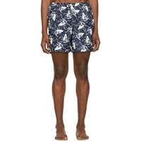 Bather Navy And White Windsurf Swim Shorts