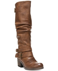 Carlos By Carlos Santana Claudia Wide Calf Tall Boots Women's Shoes Cognac