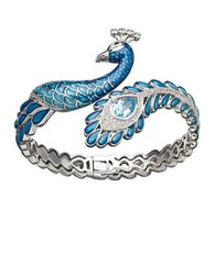 Lord And Taylor Peacock Bracelet Blue Enamel