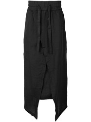 Barbara I Gongini Drop Crotch Shorts Black