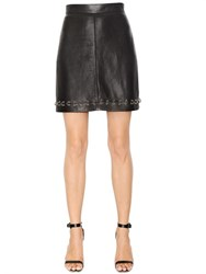 The Kooples Piercing Smooth Leather Skirt