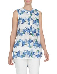Cynthia Steffe Spring Meadow Printed Hi Lo Top New Ivory