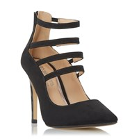 Head Over Heels Alora Strappy Courts Black