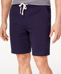 Club Room Men's Classic Fit Knit Drawstring 8.5 Shorts Created For Macy's Navy Blue