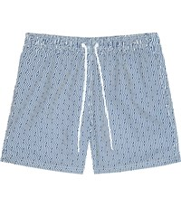 Reiss Lorenzo Drawstring Swim Shorts In White Blue White Blue