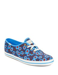 Kate Spade Round Toe Lace Up Sneakers Peacock Blue
