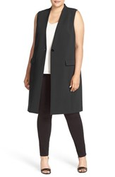 Halogenr Plus Size Women's Halogen One Button Long Vest