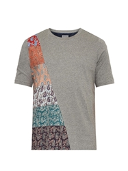 Paul Smith Paisley Insert Cotton Jersey T Shirt