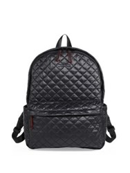 M Z Wallace Oxford Small Quilted Nylon Backpack Black