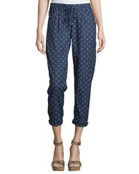 Nanette Nanette Lepore Anchor Print Rolled Cuff Pants Anchor Away Wash