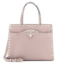 Valentino Garavani Rockstud Leather Shoulder Bag Pink