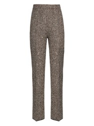 Giambattista Valli Embellished Tweed Trousers Silver Multi