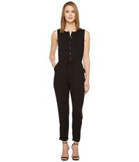 Brigitte Bailey Ashton Sleeveless Button Up Jumpsuit Black Women's Jumpsuit And Rompers One Piece