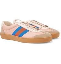 Gucci Leather And Suede Sneakers Pink