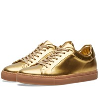 Paul Smith Metallic Basso Sneaker Gold