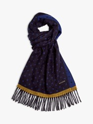 Ted Baker Earlham Spotted Scarf Navy Blue