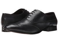 Fitzwell Wing Black Tequila Leather Men's Dress Flat Shoes