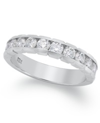 Macy's Certified Diamond Anniversary Band Ring In 14K White Gold 3 4 Ct. T.W.