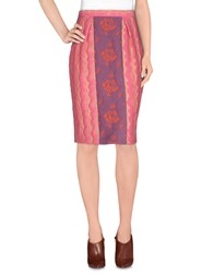 Miu Miu Skirts Knee Length Skirts Women Pink