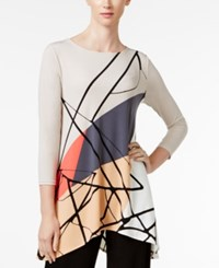 Alfani Printed Swing Top Only At Macy's Linework Color